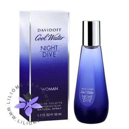 عطر ادکلن دیویدوف کول واتر نایت دایو زنانه-Davidoff Cool Water Night Dive Woman