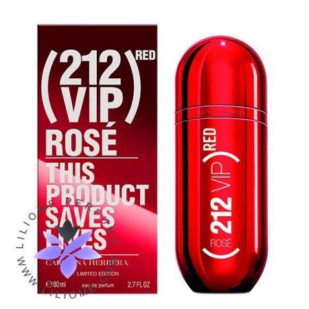 عطر ادکلن کارولینا هررا 212 وی آی پی رز رد | Carolina Herrera 212 VIP Rosé Red